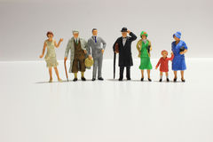 Toy, miniature figures of human Royalty Free Stock Photos