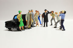Toy, miniature figures of human Stock Photo