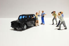Toy, miniature figures of human Royalty Free Stock Image