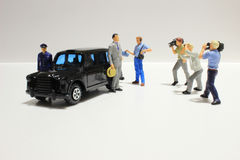 Toy, miniature figures of human Royalty Free Stock Images