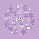 Toy minimal outline icons Stock Image