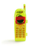 Toy Mobile Phone. On White Background Royalty Free Stock Image