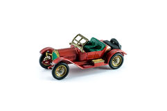 Toy model car red color Royalty Free Stock Photos