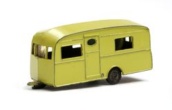 Toy model caravan Royalty Free Stock Photo