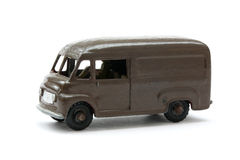 Toy model of Classic Brown Delivery Van Stock Photo