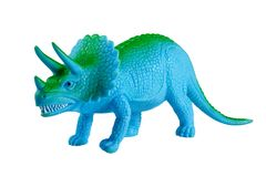 Toy model of a dinosaur. On a white background Royalty Free Stock Photo