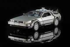 A toy model of the famous DeLorean car royalty free stock photos