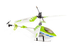 Toy model helicopter on a light background Royalty Free Stock Images