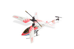 Toy model helicopter on a light background Stock Photography