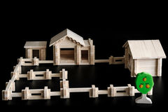 Toy model of a house Royalty Free Stock Image