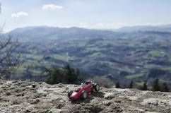 Toy model of Italian car Stock Photography