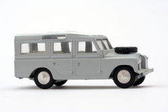 Toy model Landrover stock image