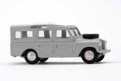 Toy model Landrover. Scale model of 1960s Long Wheelbase Safari Landrover Stock Image