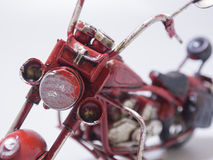 A toy model of a motocycle. Close up. Royalty Free Stock Images