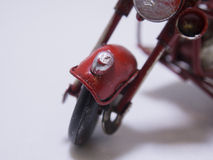 A toy model of a motocycle. Close up. Royalty Free Stock Image