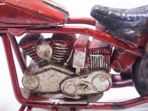 A toy model of a motocycle. Close up. Stock Images