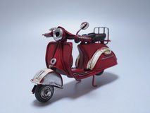 A toy model of a scooter. Close up. Stock Photography