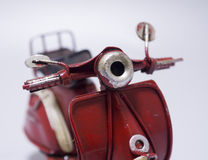 A toy model of a scooter. Close up. Royalty Free Stock Photo