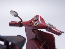 A toy model of a scooter. Close up. Royalty Free Stock Photos