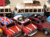 Toy models of cars and vans Stock Images