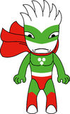 Toy monster hero. Toy green monster character. Editable vector illustration Stock Images