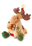 Toy moose. A toy moose is a good baby gift, elk will be his little friend and favorite Stock Photography
