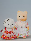 Toy mother bear and baby bear Stock Photo