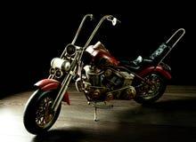 Toy motorbike isolated on black background Stock Image