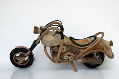 Toy Motorcycle. Wooden Toy Motorcycle Stock Image