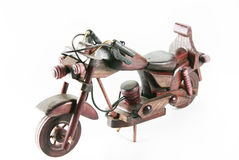 Toy motorcycle isolated Royalty Free Stock Photos