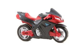 Toy motorcycle Stock Images