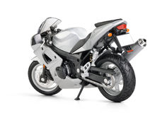 Toy motorcycle on white background Royalty Free Stock Photo