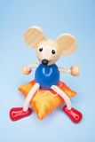 Toy Mouse on Cushion Stock Photo