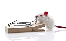 Toy Mouse and Mousetrap Royalty Free Stock Images