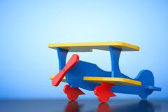 Toy Multicoloured Biplane. 3d Rendering Royalty Free Stock Photo