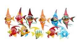 Toy multicoloured fish on white Royalty Free Stock Photos