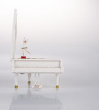 toy music box or piano music box on a background. Royalty Free Stock Image