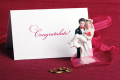 Toy newly-married couple Stock Images