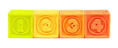 Toy number colorful blocks Royalty Free Stock Photography