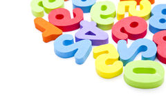 Toy numbers background Royalty Free Stock Photos