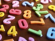 Toy numbers Stock Photo