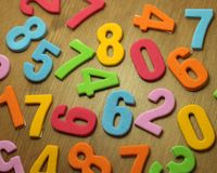 Toy numbers Royalty Free Stock Photo