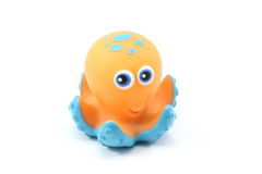 Toy Octopus. A toy octopus on a white background Royalty Free Stock Image