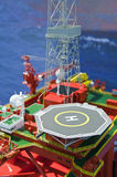 Toy - oil platform Royalty Free Stock Images