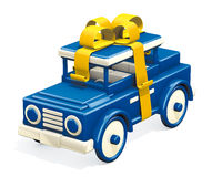 Toy old car gift Stock Photography