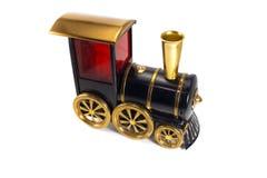 Toy Old-Zug lokalisiert auf weißem Hintergrund Lizenzfreie Stockfotografie