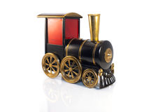 Toy Old-Zug lokalisiert auf weißem Hintergrund Lizenzfreie Stockbilder