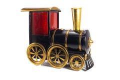 Toy Old-Zug lokalisiert auf weißem Hintergrund Stockbilder