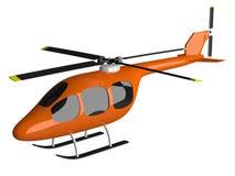 Toy orange helicopter isolated Stock Images