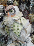 A toy owl. Christmas toys background. Christmas toys background. September, 2013 Royalty Free Stock Photography